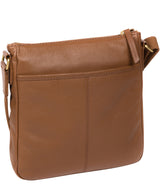 'Mayfield' Tan Leather Cross Body Bag image 3