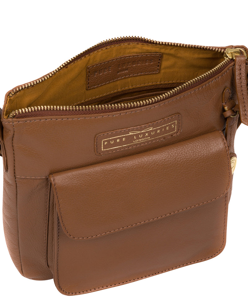 'Mayfield' Tan Leather Cross Body Bag image 4