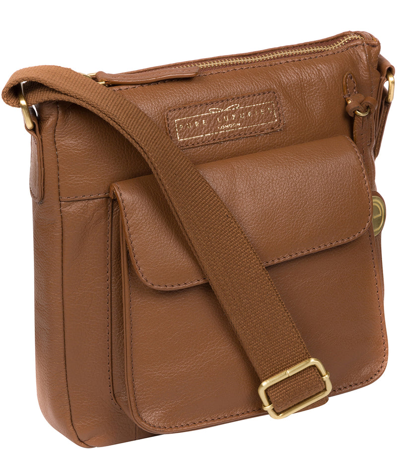 'Mayfield' Tan Leather Cross Body Bag image 5