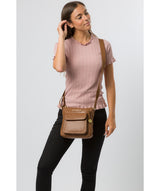 'Mayfield' Tan Leather Cross Body Bag image 2