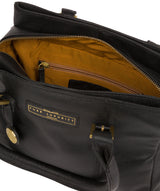 'Avebury' Black & Gold Leather Handbag image 5