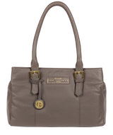 'Avebury' Grey Leather Handbag image 1