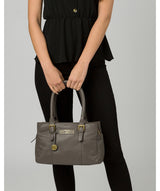 'Avebury' Grey Leather Handbag image 2