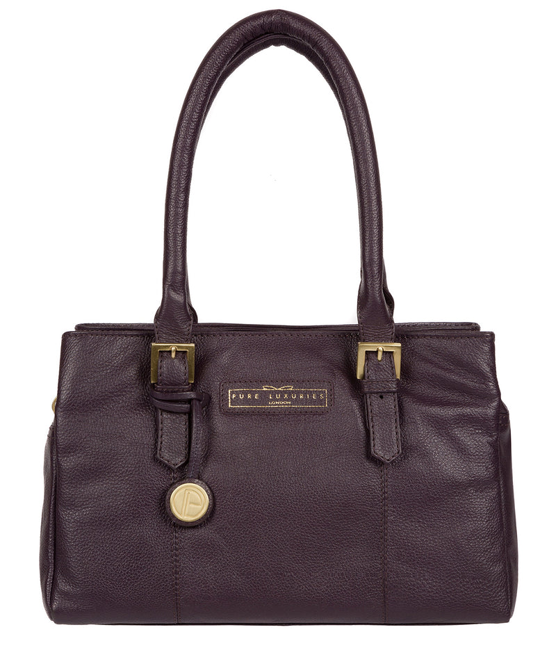 'Avebury' Plum Leather Handbag image 1