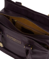 'Avebury' Plum Leather Handbag image 4