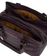 'Avebury' Plum Leather Handbag image 5