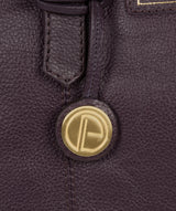 'Avebury' Plum Leather Handbag image 6