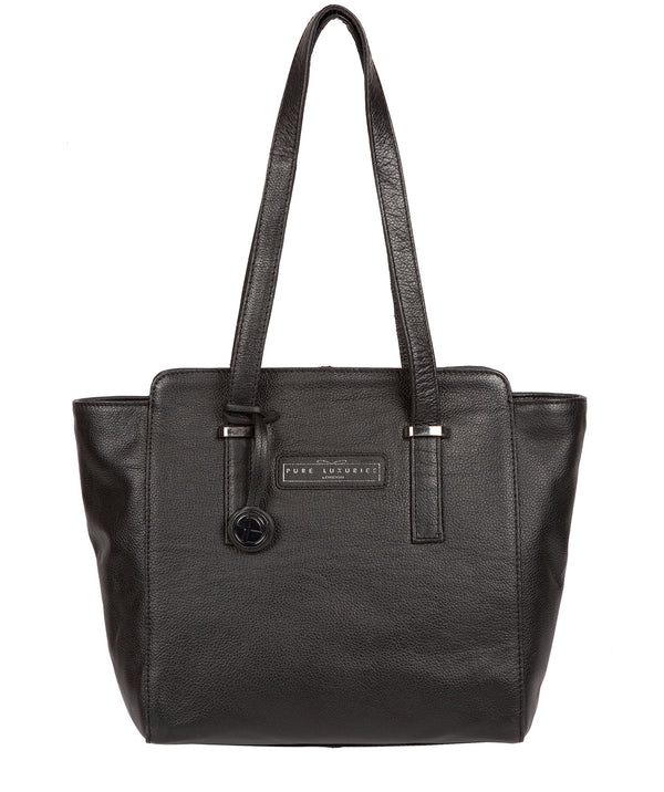 'Bramhall' Black & Silver Leather Handbag image 1
