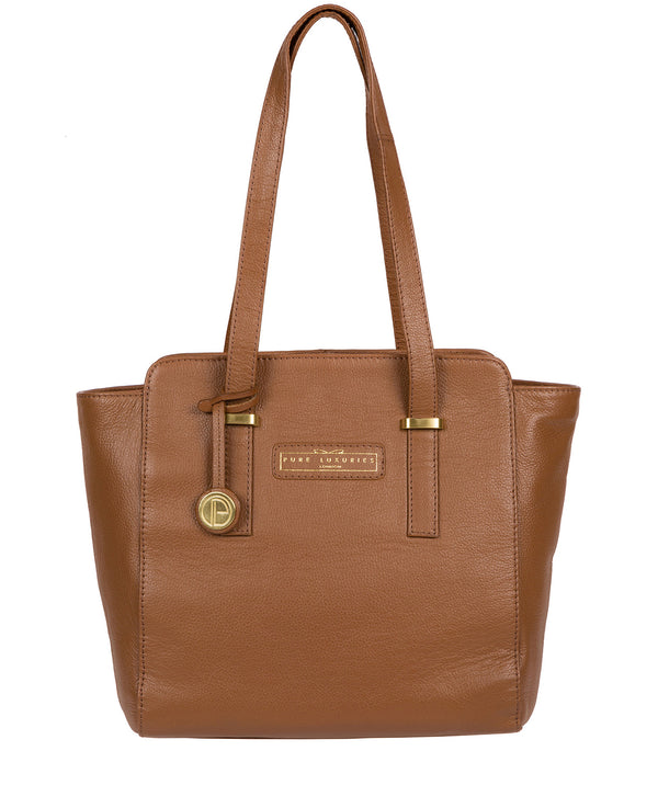'Bramhall' Tan Leather Handbag image 1