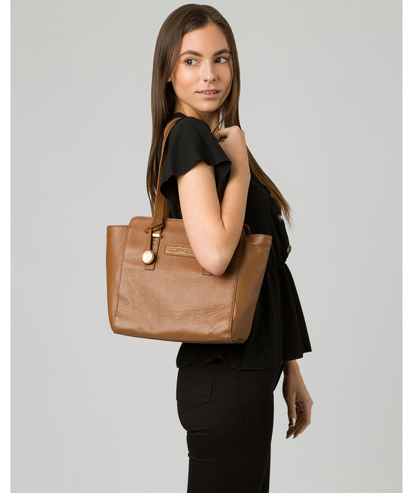 'Bramhall' Tan Leather Handbag image 2