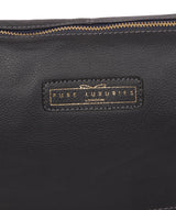 'Tadley' Navy Leather Shoulder Bag Pure Luxuries London