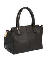 'Jasmine' Black Leather Bag