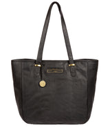 'Spalding' Black & Gold Leather Tote Bag image 1