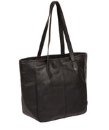 'Spalding' Black & Gold Leather Tote Bag image 3