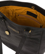 'Spalding' Black & Gold Leather Tote Bag image 4