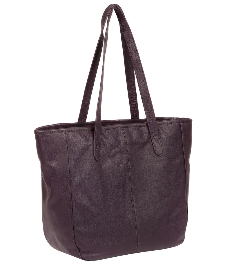 'Spalding' Plum Leather Tote Bag image 3