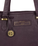 'Spalding' Plum Leather Tote Bag image 5