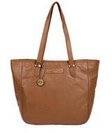 'Spalding' Tan Leather Tote Bag image 1