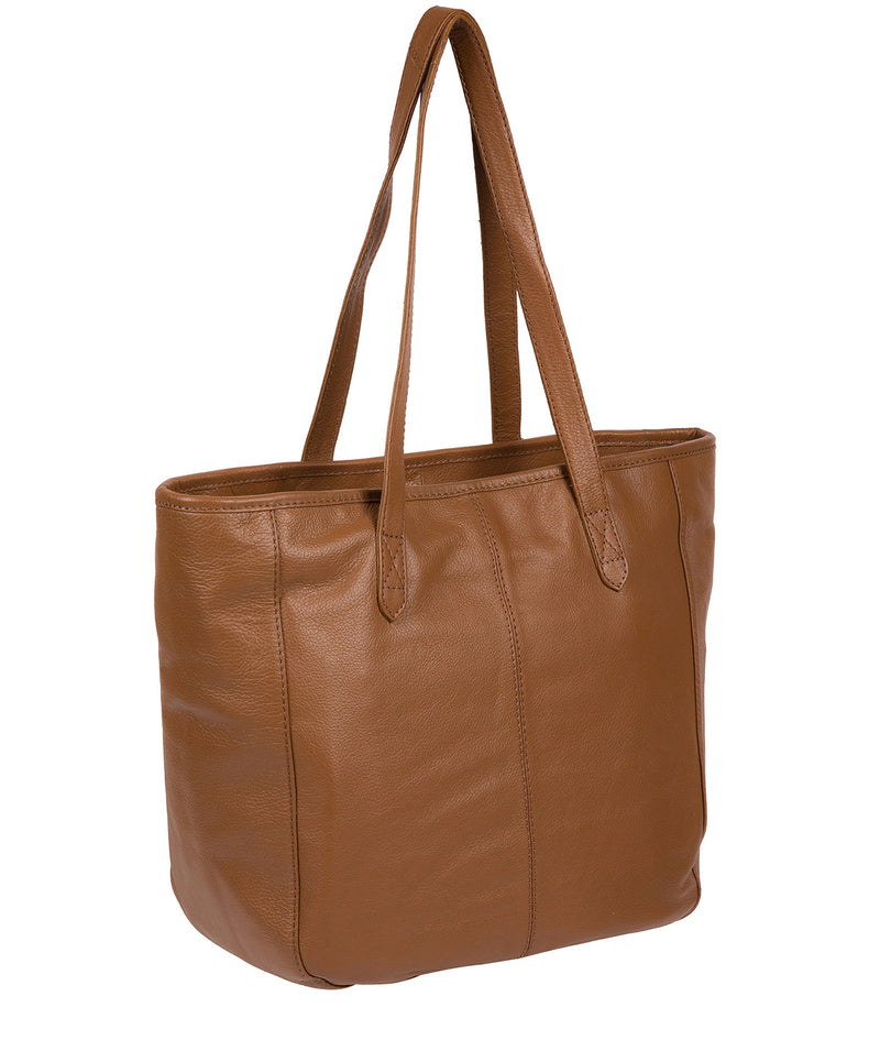 'Spalding' Tan Leather Tote Bag image 3