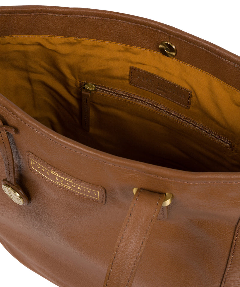'Spalding' Tan Leather Tote Bag image 4
