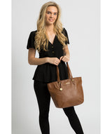 'Spalding' Tan Leather Tote Bag image 2
