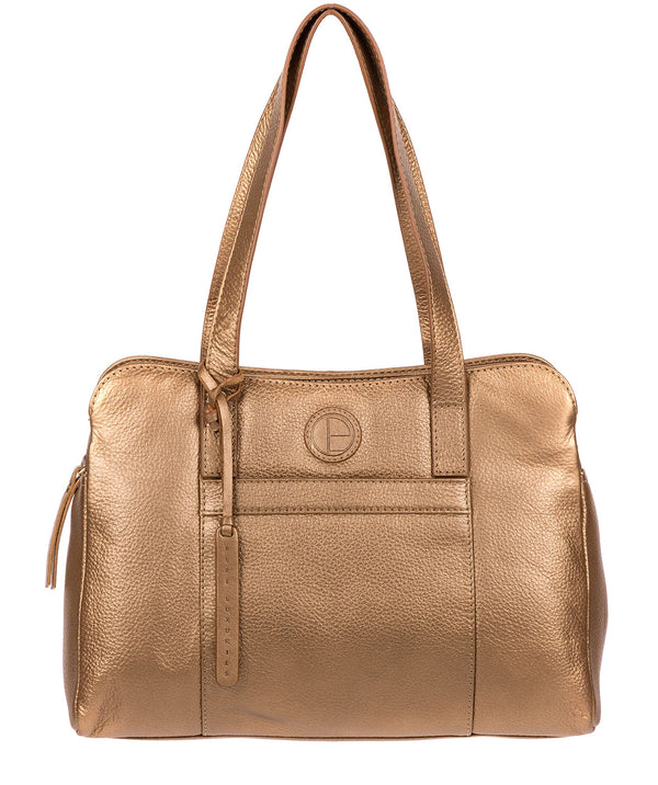 'Henna' Bronze Gold Leather Handbag image 1
