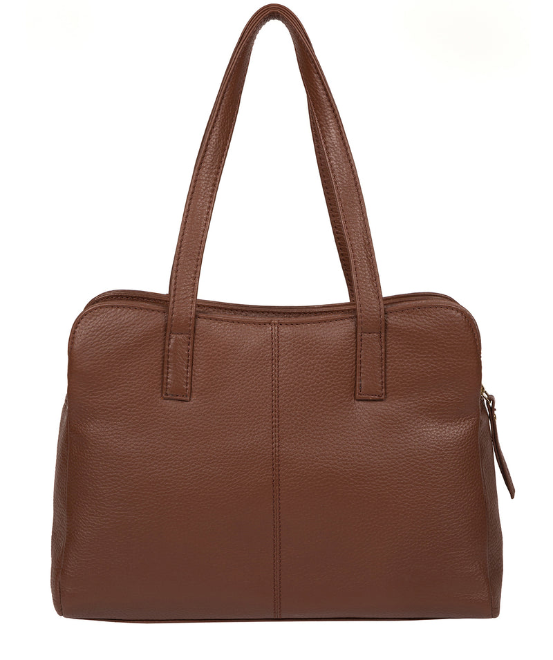 'Henna' Dark Tan Leather Handbag image 3
