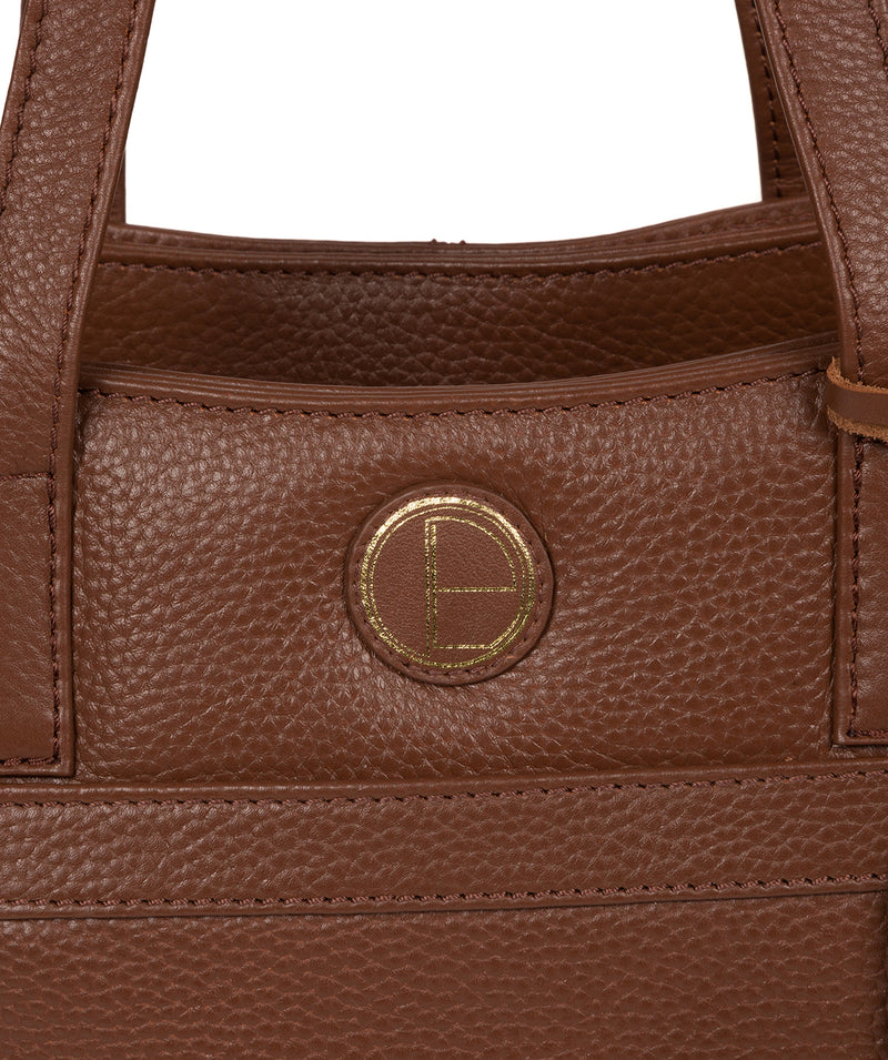 'Henna' Dark Tan Leather Handbag image 7