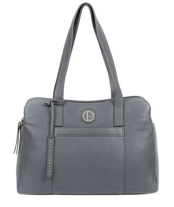 'Henna' Grey Leather Handbag image 1