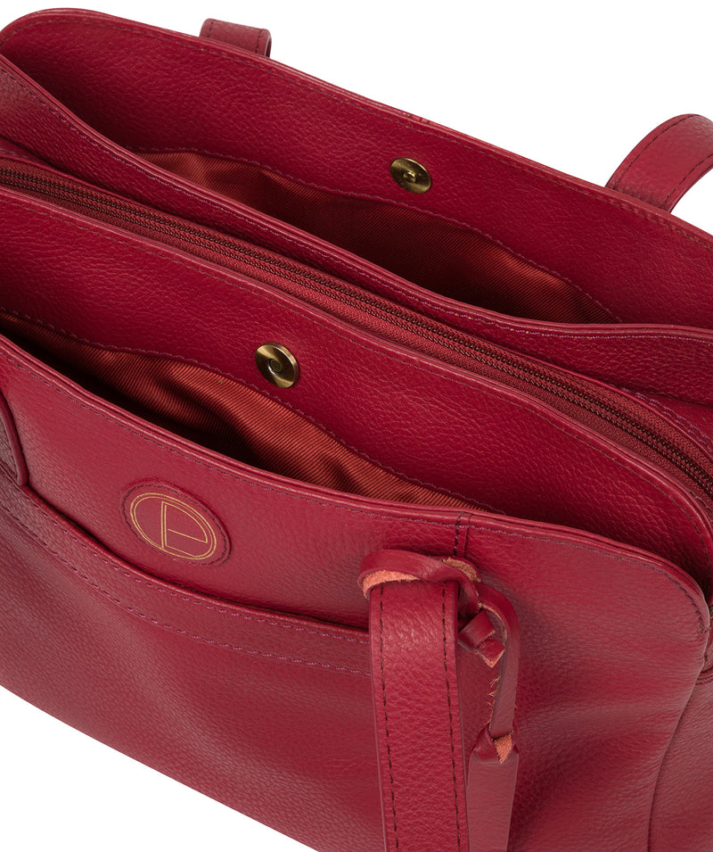 'Henna' Red Leather Handbag image 4