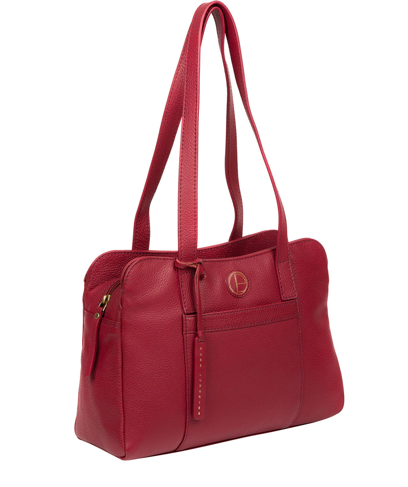'Henna' Red Leather Handbag image 5