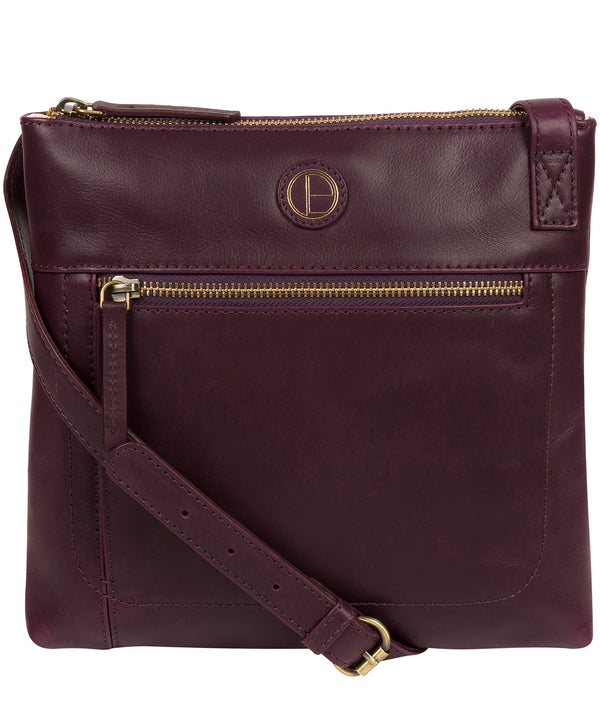 'Valley' Blackberry Leather Cross Body Bag image 1