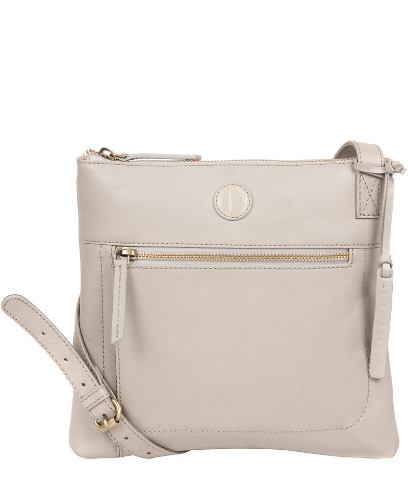 'Valley' Dove Grey Leather Cross Body Bag image 1