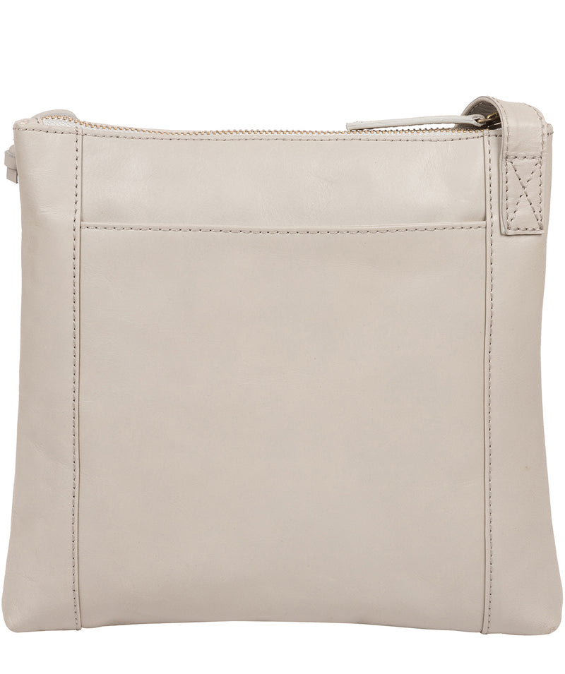 'Valley' Dove Grey Leather Cross Body Bag image 3