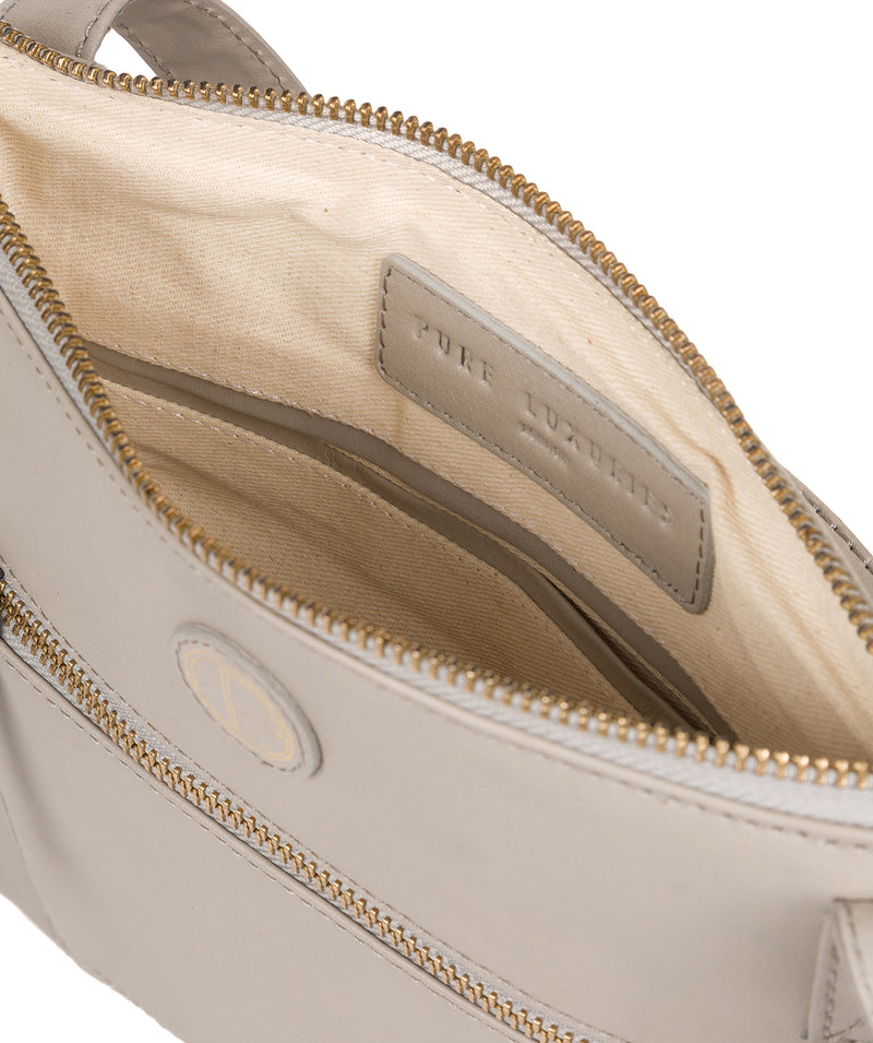 'Valley' Dove Grey Leather Cross Body Bag image 4