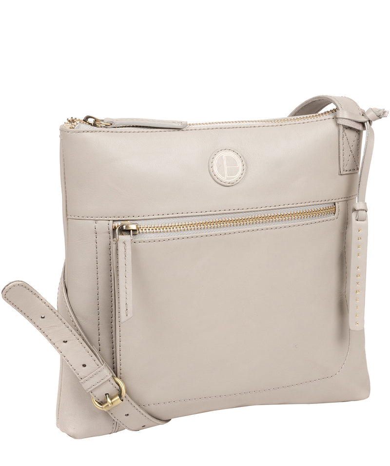'Valley' Dove Grey Leather Cross Body Bag image 5