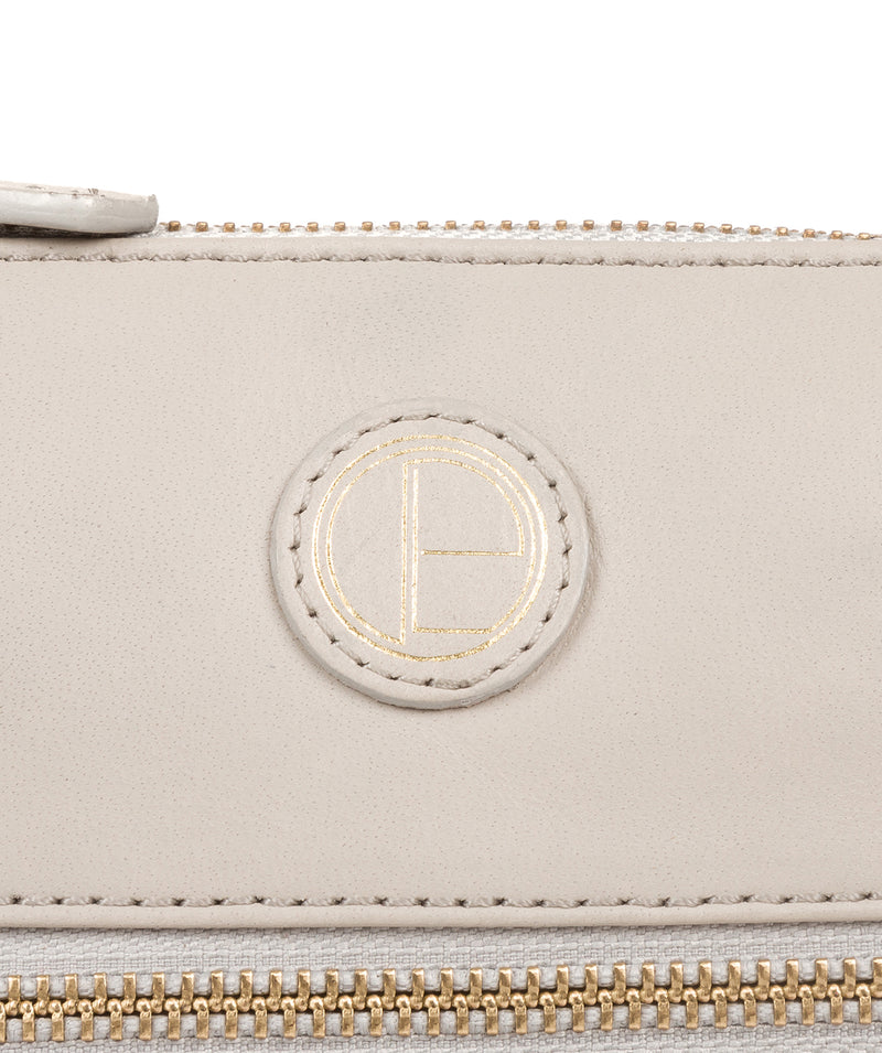 'Valley' Dove Grey Leather Cross Body Bag image 6