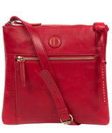 'Valley' Vintage Red Leather Cross Body Bag image 1