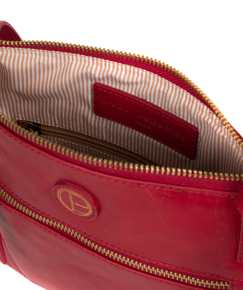 'Valley' Vintage Red Leather Cross Body Bag image 4