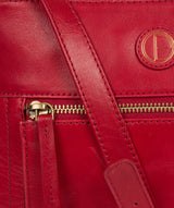 'Valley' Vintage Red Leather Cross Body Bag image 6