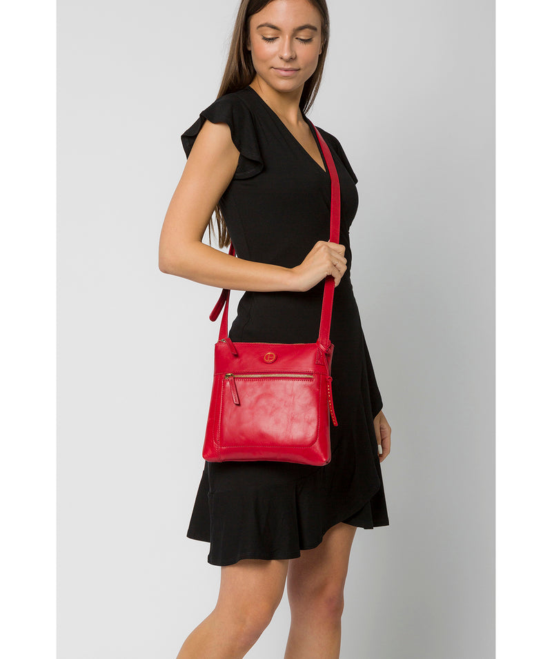 'Valley' Vintage Red Leather Cross Body Bag image 2