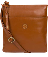 'Foxton' Vintage Dark Tan Leather Cross Body Bag image 1