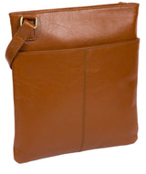 'Foxton' Vintage Dark Tan Leather Cross Body Bag image 3