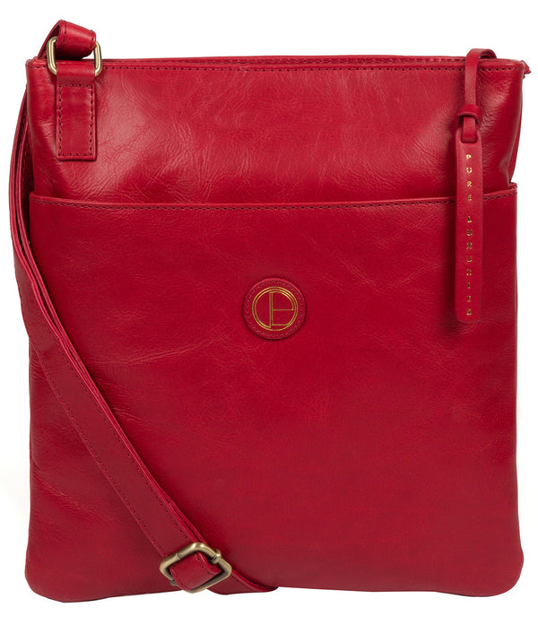 'Foxton' Vintage Red Leather Cross Body Bag image 1