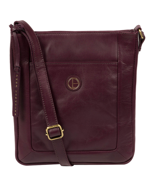 'Bythorn' Blackberry Leather Cross Body Bag