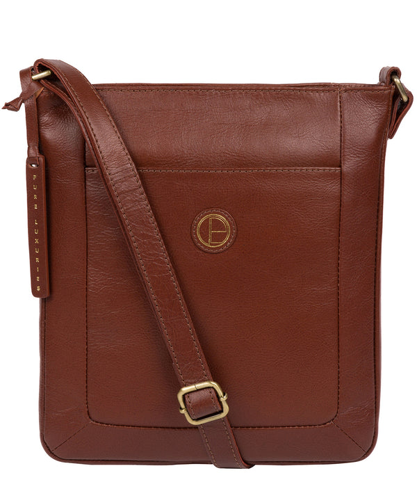 'Bythorn' Vintage Cognac Leather Cross Body Bag image 1