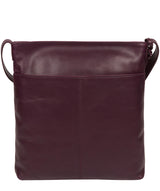 'Plumpton' Blackberry Leather Cross Body Bag image 3