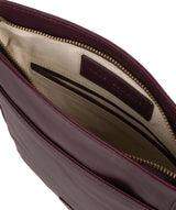 'Plumpton' Blackberry Leather Cross Body Bag image 4