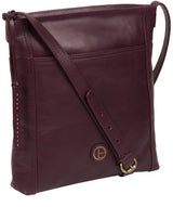 'Plumpton' Blackberry Leather Cross Body Bag image 5