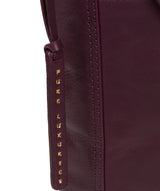 'Plumpton' Blackberry Leather Cross Body Bag image 6